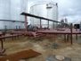 Hook-up of new oil storage tanks at CPF