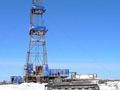 Exploration drilling rig at Arbuzovskaya No.1 location