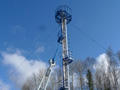 Gas flare tower