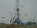 Inclement weather at production drilling rig at Lineynoye Pad #1