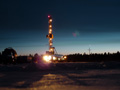 Production drilling rig at Lineynoye Pad #1