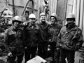 Drill crew on production drilling rig at Lineynoye Pad #1