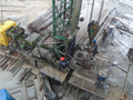 A wet day on the workover rig